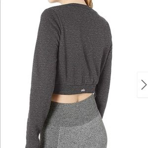 Alo cropped sweatshirt